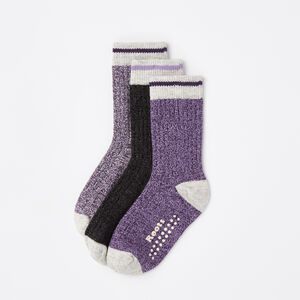Roots-Kids Baby Girl-Baby & Toddler Cabin Sock 3 Pack-Night Shade-A