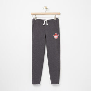 Roots-Gifts For Kids-Boys Heritage Canada Slim Sweatpant-Charcoal Mix-A