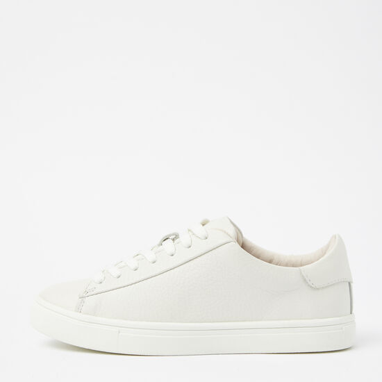 Roots-Shoes Shoes-Womens Lace Up Sneaker Leather-White-A