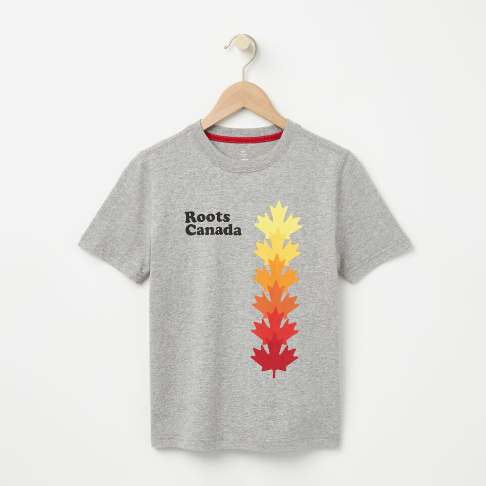 Roots-undefined-Boys Roots Canada Leaf T-shirt-undefined-A