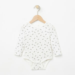 Roots-Kids New Arrivals-Baby's First Roots Onesie-Cloudy White-A