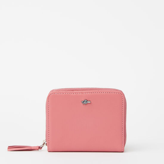 Roots-Leather Wallets-Small Tassel Wallet Bridle-Rose Pink-A