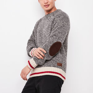 Roots-Men Sweaters & Cardigans-Roots Cabin Crewneck-Grey Oat Mix-A