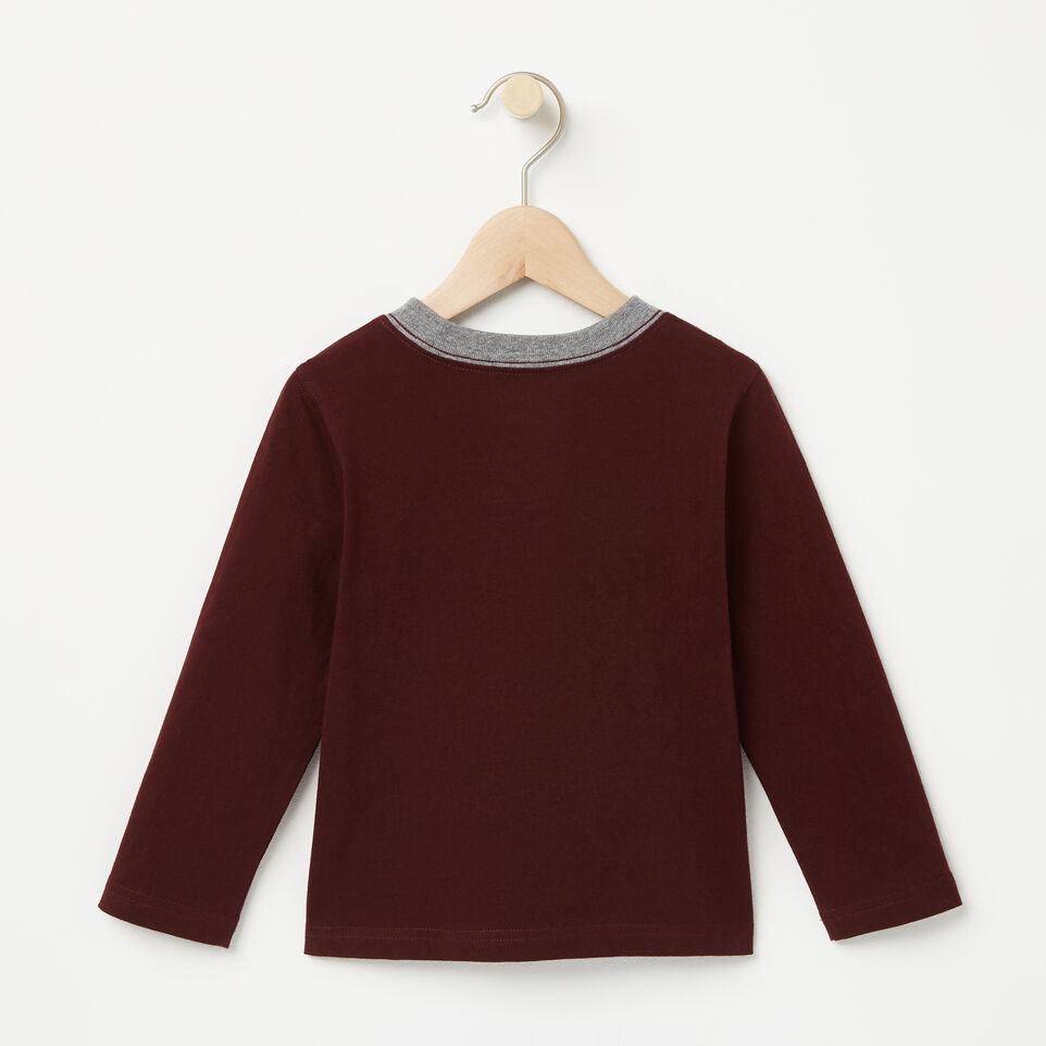 Roots-undefined-Tout-Petits T-shirt Collier Contraste RBA-undefined-B
