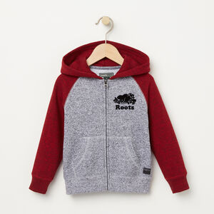 Roots-Kids Sweats-Toddler Contrast Full Zip Hoody-Lodge Red Pepper-A