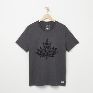 Roots-Men Graphic T-shirts-Maple Icon T-shirt-Charcoal Mix-A