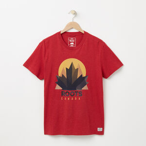 Roots-Sale Men-Nobel T-shirt-Moroccan Red Mix-A