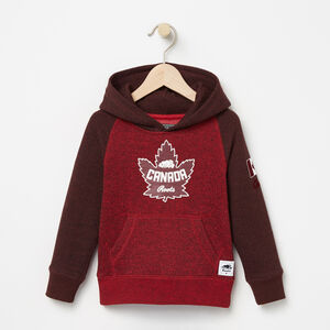 Roots-Kids Tops-Toddler Heritage Canada Kanga Hoody-Sage Red Pepper-A