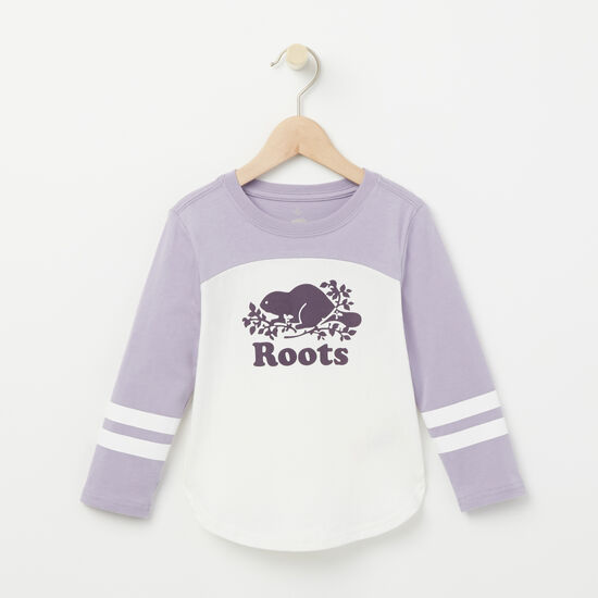 Roots-Kids Tops-Toddler Eloise Varsity Top-Wisteria-A