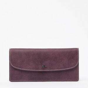 Roots-Leather New Arrivals-Slim Curve Wallet Tribe-Deep Purple-A