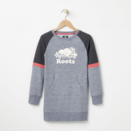 Roots-Kids Girls-Girls Celine Pepper Dress-Salt & Pepper-A