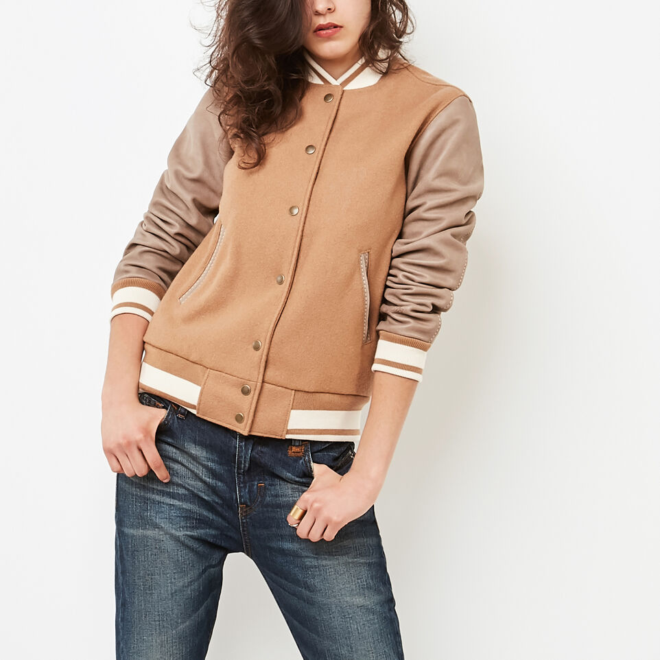 Roots-undefined-Blouson Varsity Melton/Tribe-undefined-A