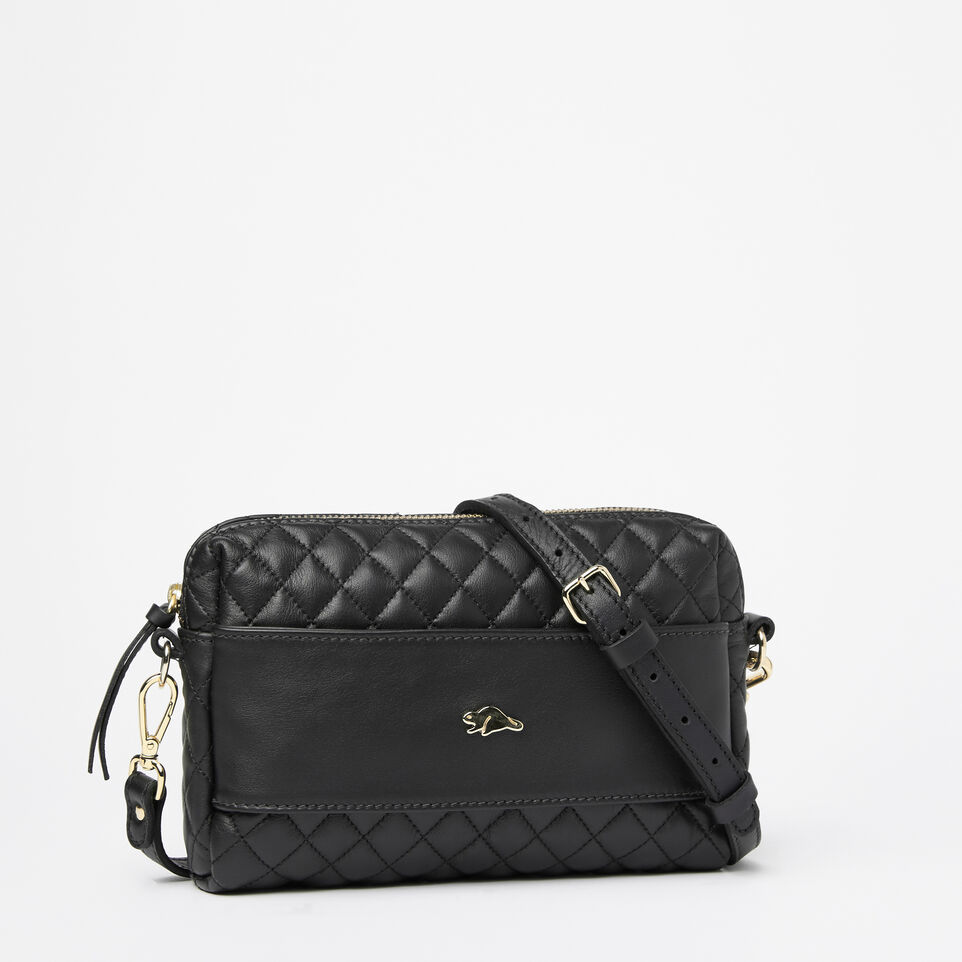Roots-undefined-Quilted Clutch Nappa/Box-undefined-A