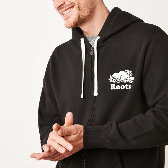 Roots-Men Tops-Original Full Zip Hoody-Black-A