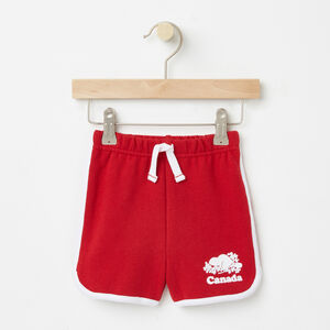 Roots-Kids Bottoms-Toddler Cooper Canada Shorts-Sage Red-A
