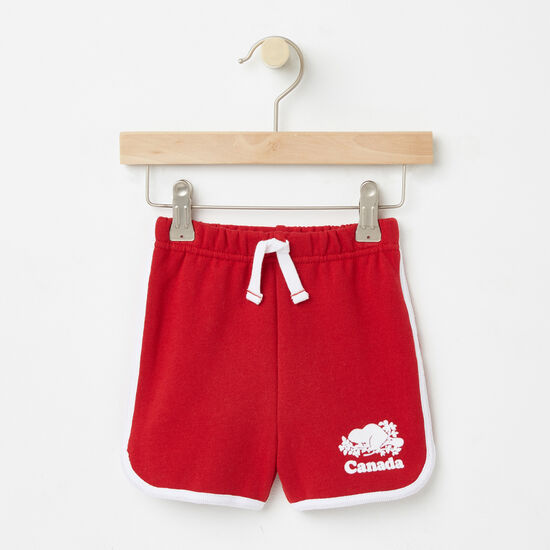 Roots-Sale Toddler-Toddler Cooper Canada Shorts-Sage Red-A