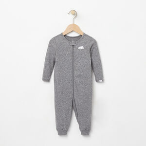 Roots-Kids New Arrivals-Baby's First Roots Sleeper-Salt & Pepper-A