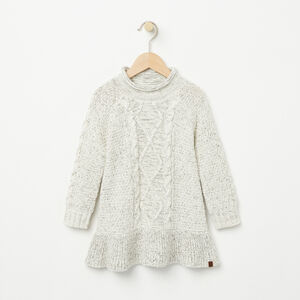 Roots-Gifts Cozy Knits-Toddler Polar Fox Dress-White Mix-A