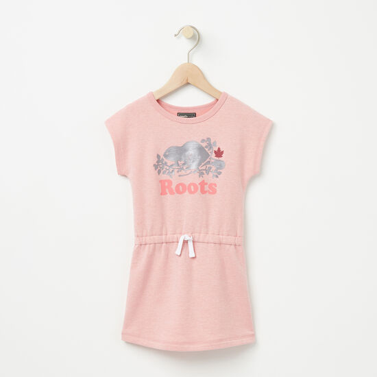 Roots-Kids New Arrivals-Toddler Laurier Fleece Dress-Bridal Rose Pepper-A