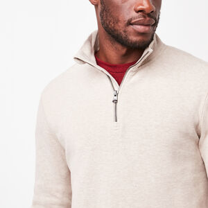 Roots-Men Long Sleeve Tops-Hawthorne Mock Pullover-Flaxseed Mix-A