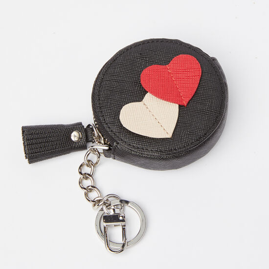 Double Heart Coin Pouch