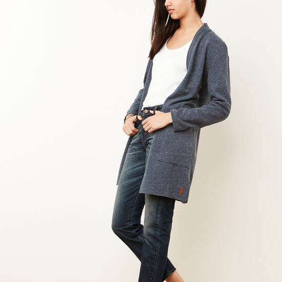 Roots-Sale Women's-Northway Cardigan-Denim Blue Mix-A