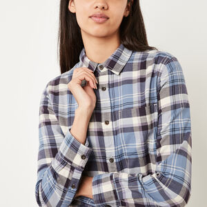 Roots-Women Shirts-Varley Plaid Shirt-Infinity-A