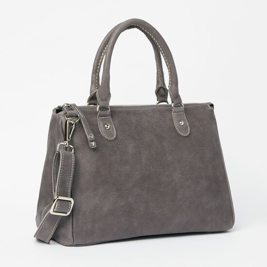 Roots-Women Shoulder Bags-Small Grace Bag Tribe-Charcoal-A