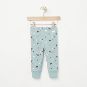 Roots-Kids Baby-Baby Woodland Critters Cozy Legging-Hushed Blue-A