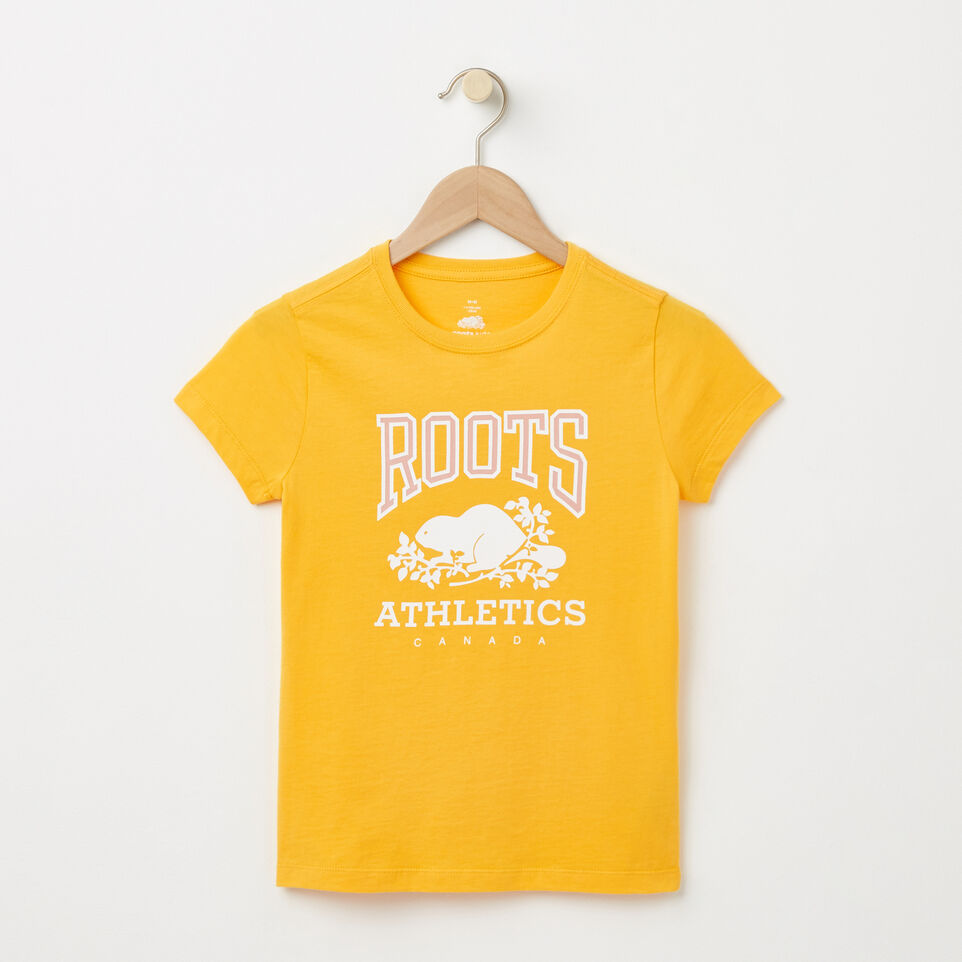 Roots-undefined-Filles T-shirt RBA Phosphorescent-undefined-A