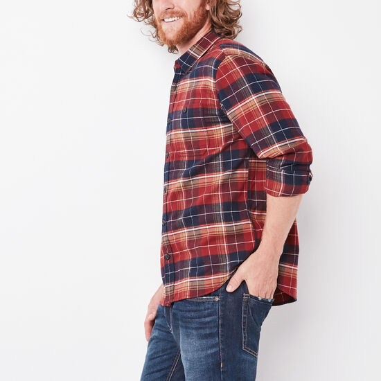 Roots-Men New Arrivals-Rivers Flannel Shirt-Madder Brown-A