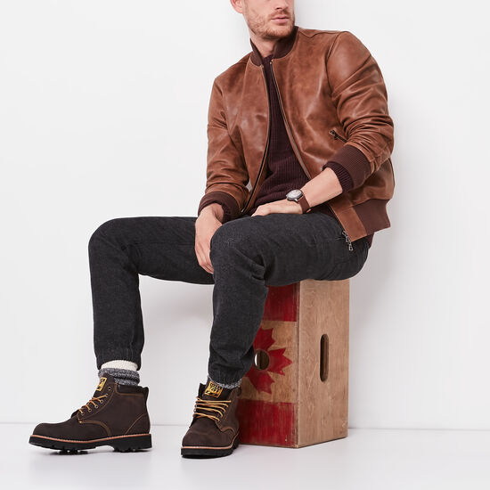 Roots-Men Leather Jackets-Mens Commander Jacket Tribe-Africa-A