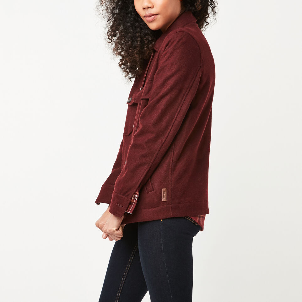 Roots-undefined-Bordeau Wool Shacket-undefined-B