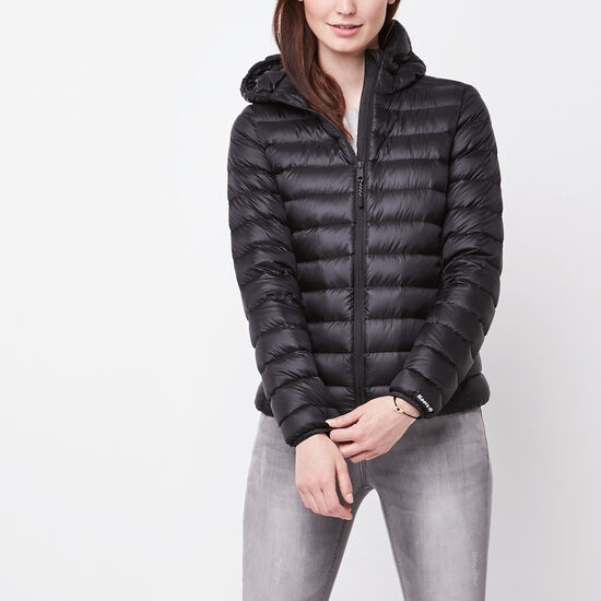 Roots-Women Features-Roots Zip Down Packable Jacket-Black-A