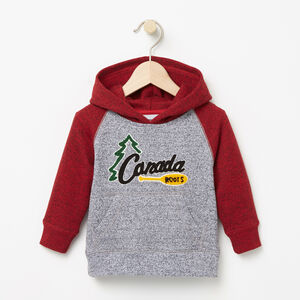 Roots-Kids Tops-Baby Heritage Chenille Kanga-Salt & Pepper-A