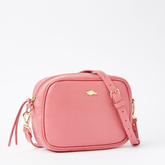 Roots-Leather Crossbody-Lorna Bag Bridle-Rose Pink-A