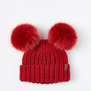 Roots-Gifts Toddler Girls-Toddler Olivia Pom Pom Toque-Lodge Red-A