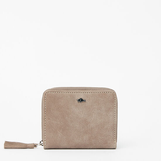 Roots-Leather Wallets-Small Tassel Wallet Tribe-Fawn-A