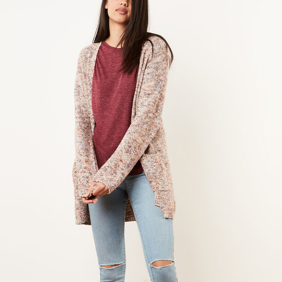 Roots-Women Sweaters & Cardigans-Atwood Cardigan-Rhododendron-A