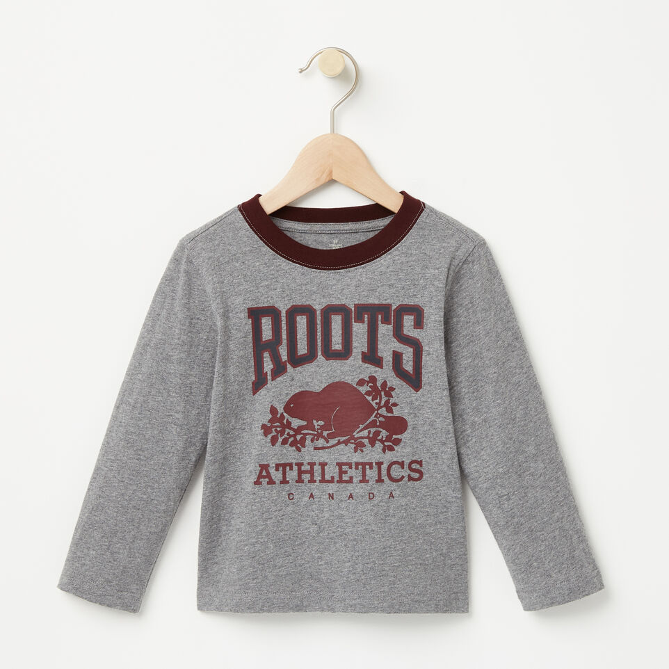 Roots-undefined-Tout-Petits T-shirt Collier Contraste RBA-undefined-A