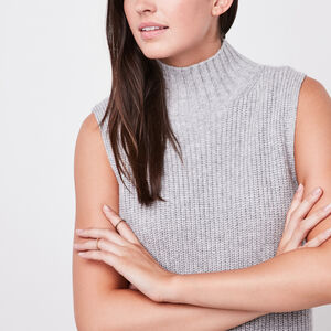 Roots-Women Tops-Villeneuve Sweater Vest-Grey Mix-A