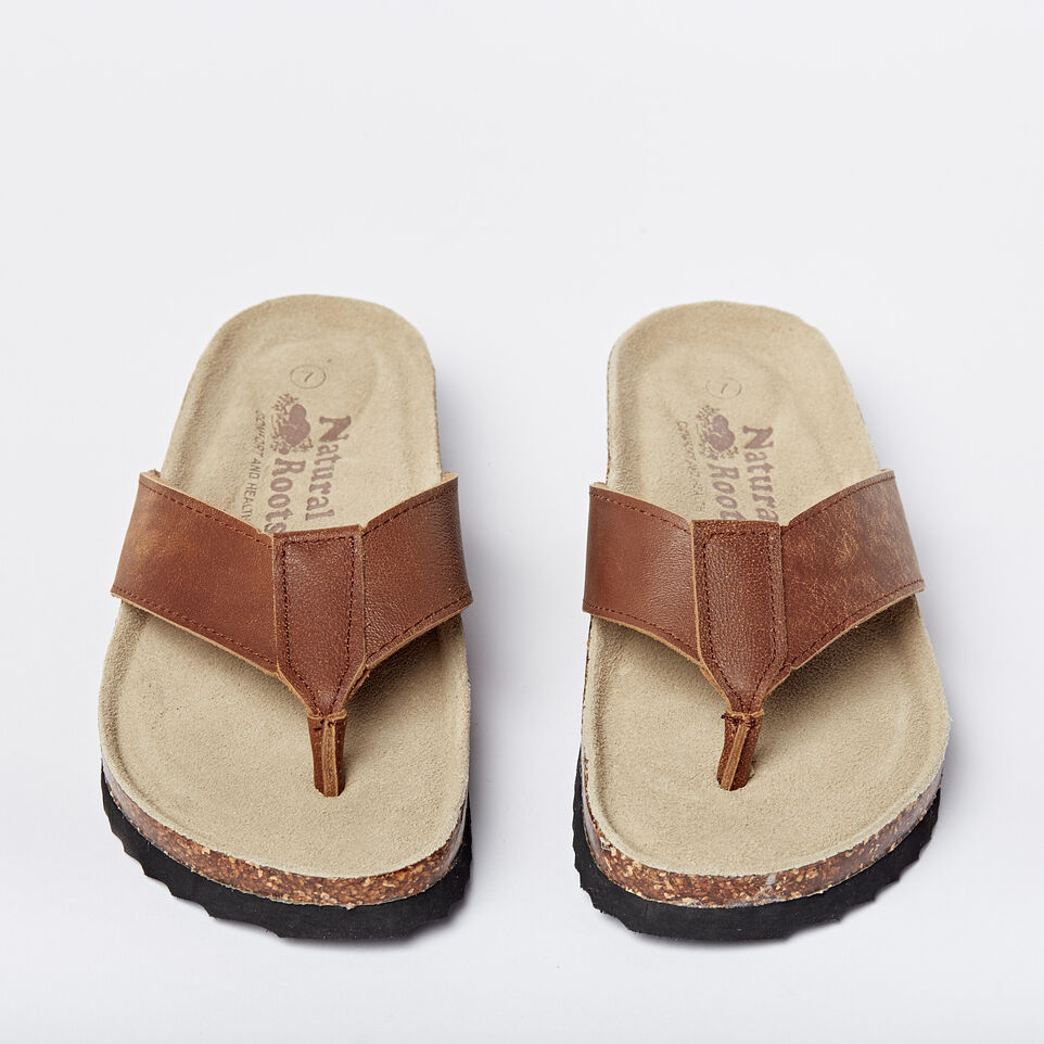 Roots-undefined-Mens Natural Roots Thong Sandals-undefined-D