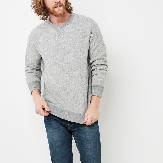 Roots-Men Tops-Junction Sweatshirt-Grey Mix-A