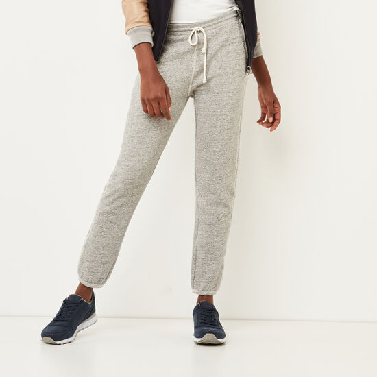 Roots-Women Slim Sweatpants-Delacourt Pant-Grey Mix-A