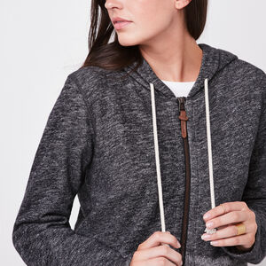 Roots-Women Tops-Roots Cabin Hybrid Hoody-Grey Oat Mix-A