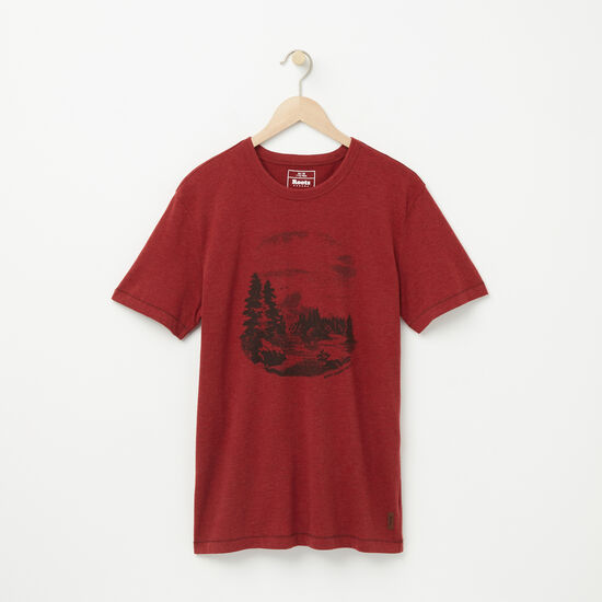 Roots-Men Graphic T-shirts-Watson T-shirt-Lodge Red Mix-A