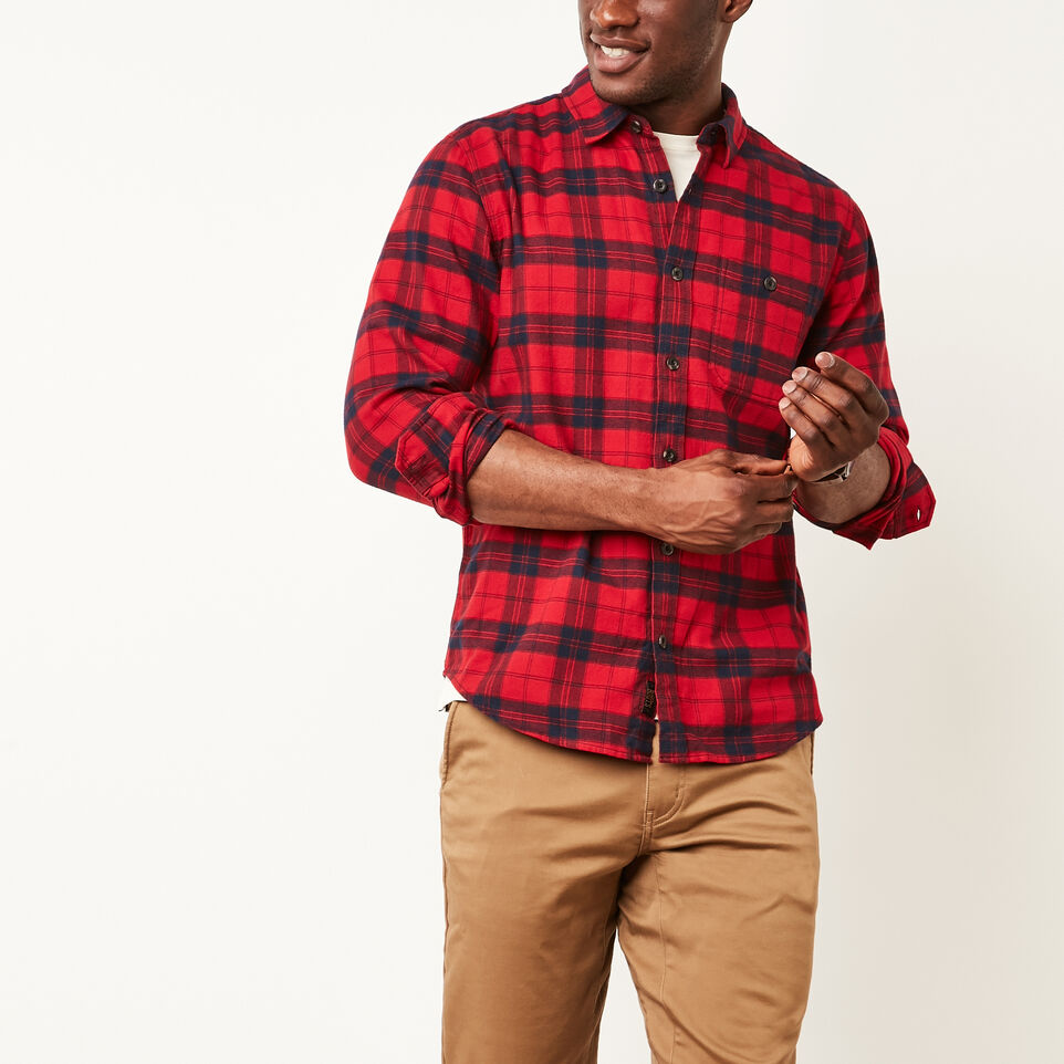 Roots-undefined-Manning Light Weight Flannel Shirt-undefined-B