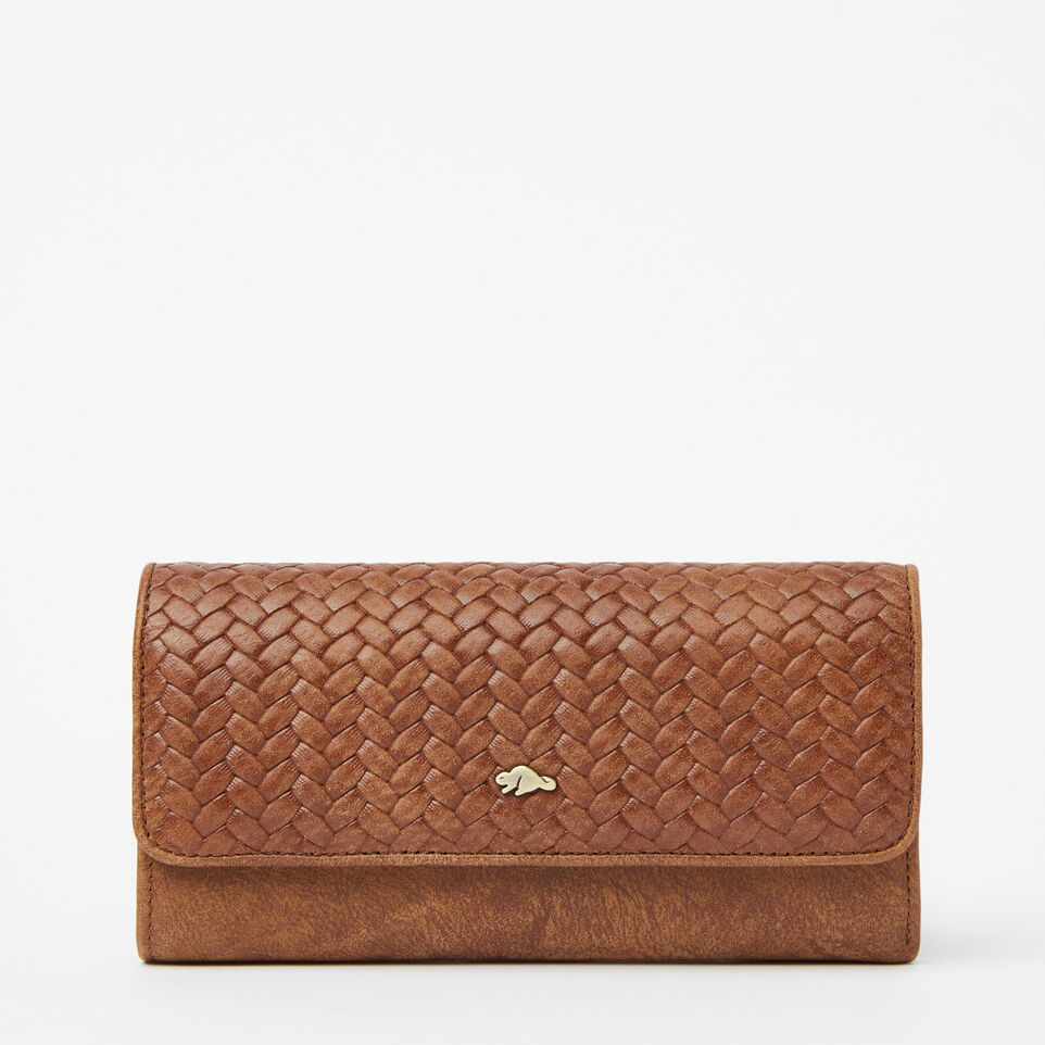 Roots-undefined-Medium Trifold Clutch Woven-undefined-A