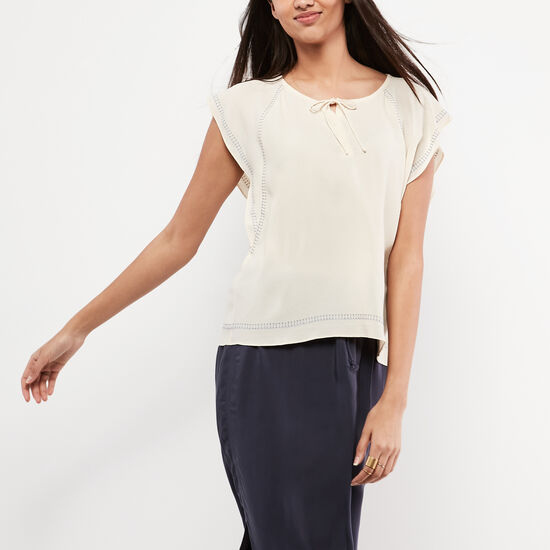 Roots-Sale Women's-Katrine Top-Birch White-A