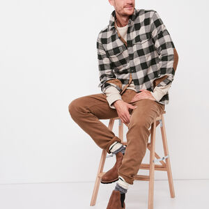 Roots-Men Plaids-Algonquin Flannel Shirt-Park Green-A